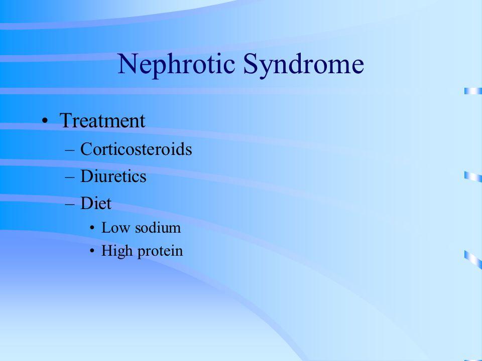 Nephrotic Syndrome Treatment Corticosteroids Diuretics Diet Low sodium