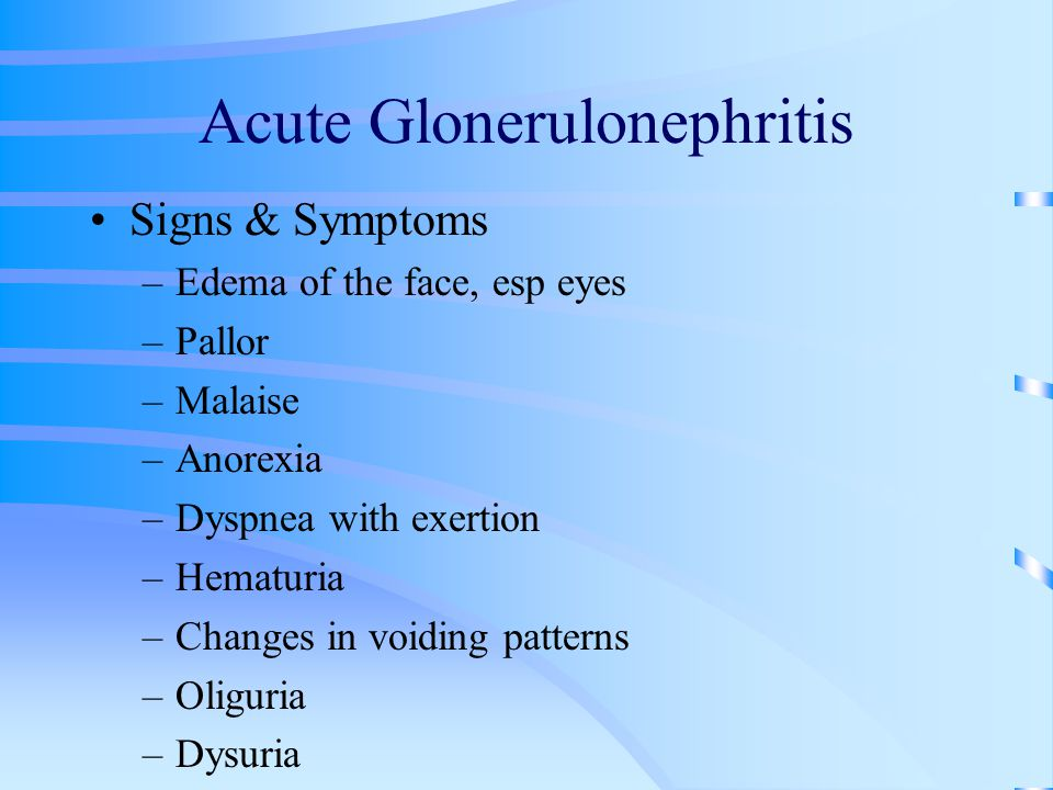 Acute Glonerulonephritis