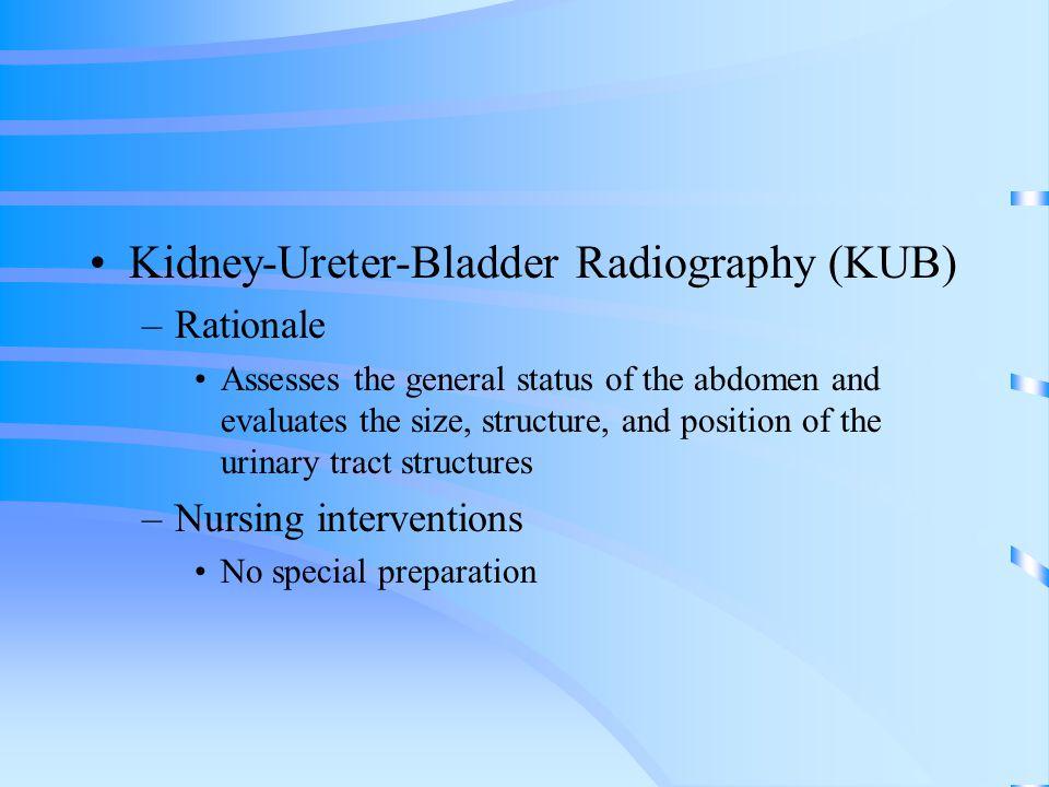 Kidney-Ureter-Bladder Radiography (KUB)