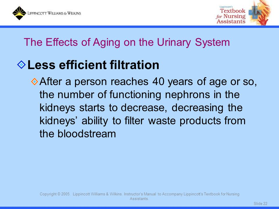 Less efficient filtration