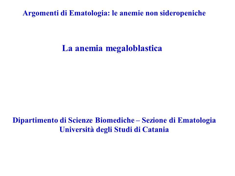 La anemia megaloblastica