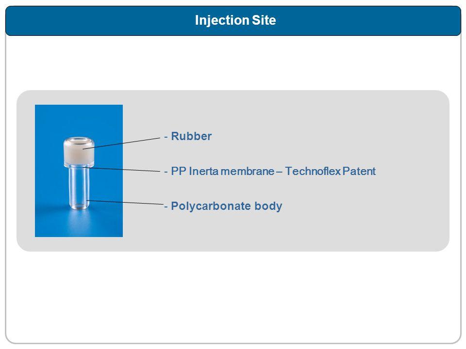 Injection Site Rubber PP Inerta membrane – Technoflex Patent