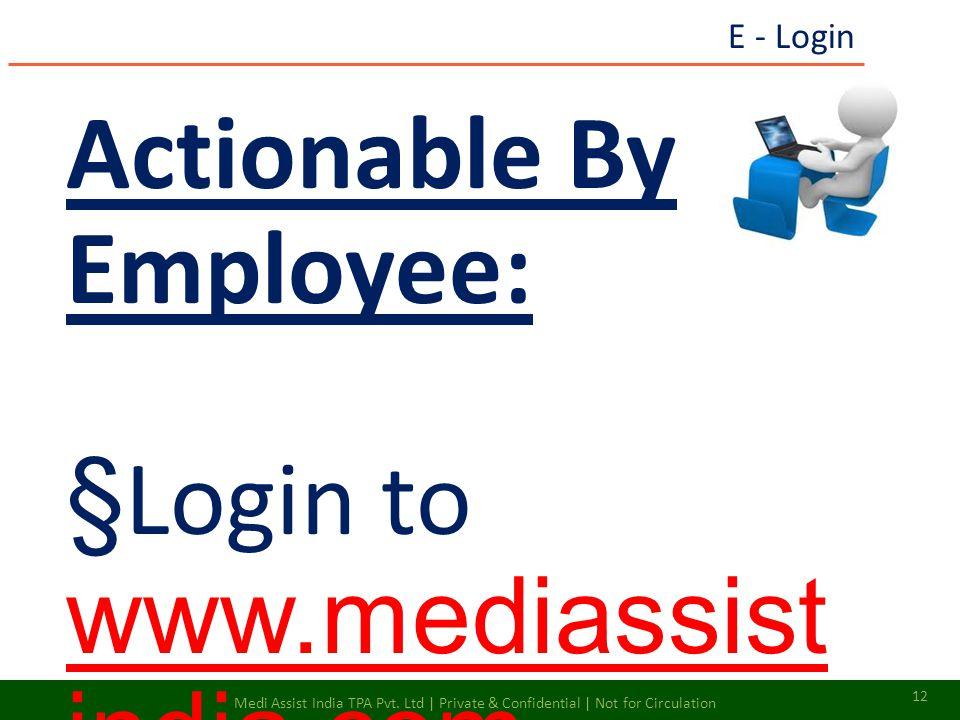 Actionable By Employee: