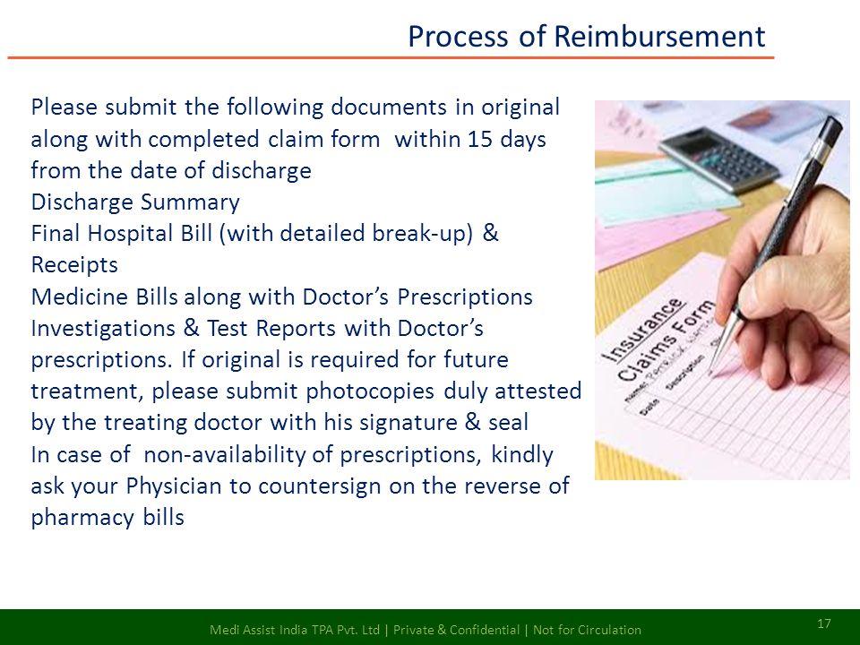 Process of Reimbursement