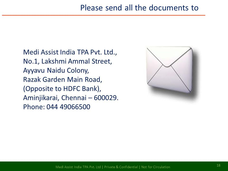 Please send all the documents to