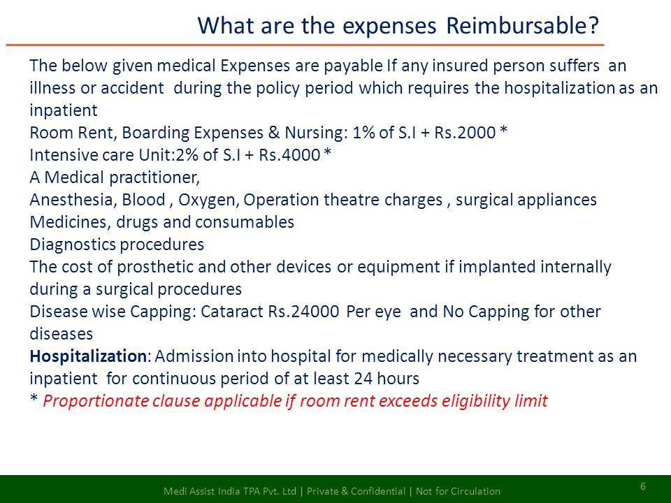 What are the expenses Reimbursable