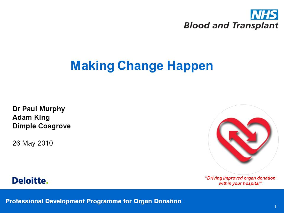 Driving improved organ donation within your hospital