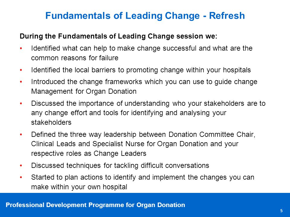 Fundamentals of Leading Change - Refresh