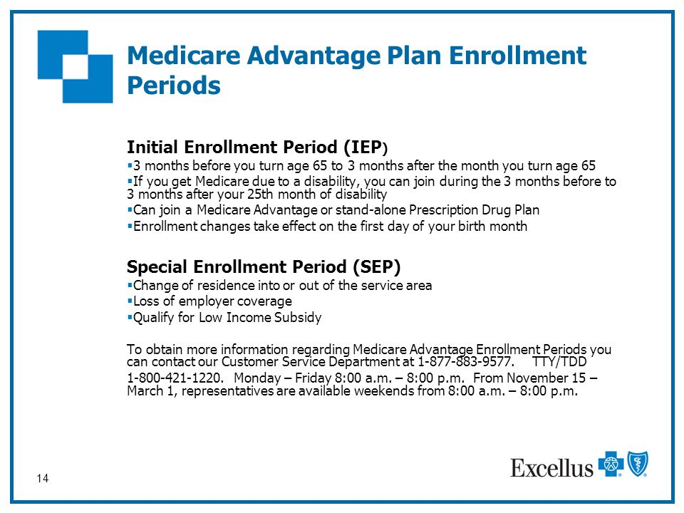 Medicare Advantage Plan Enrollment Periods