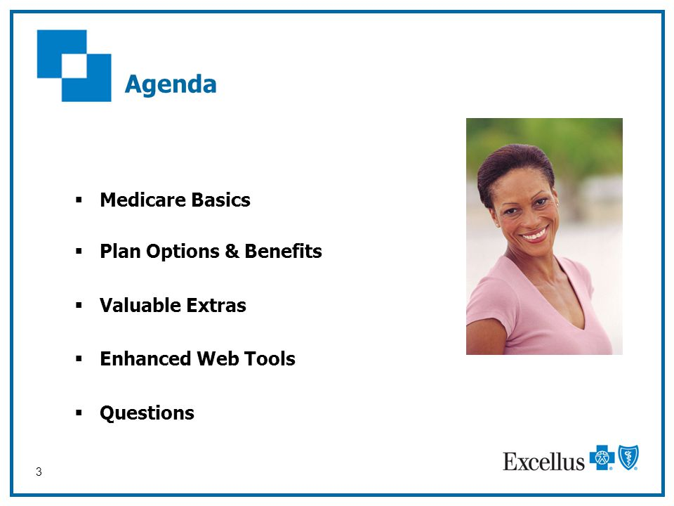 Agenda Medicare Basics Plan Options & Benefits Valuable Extras