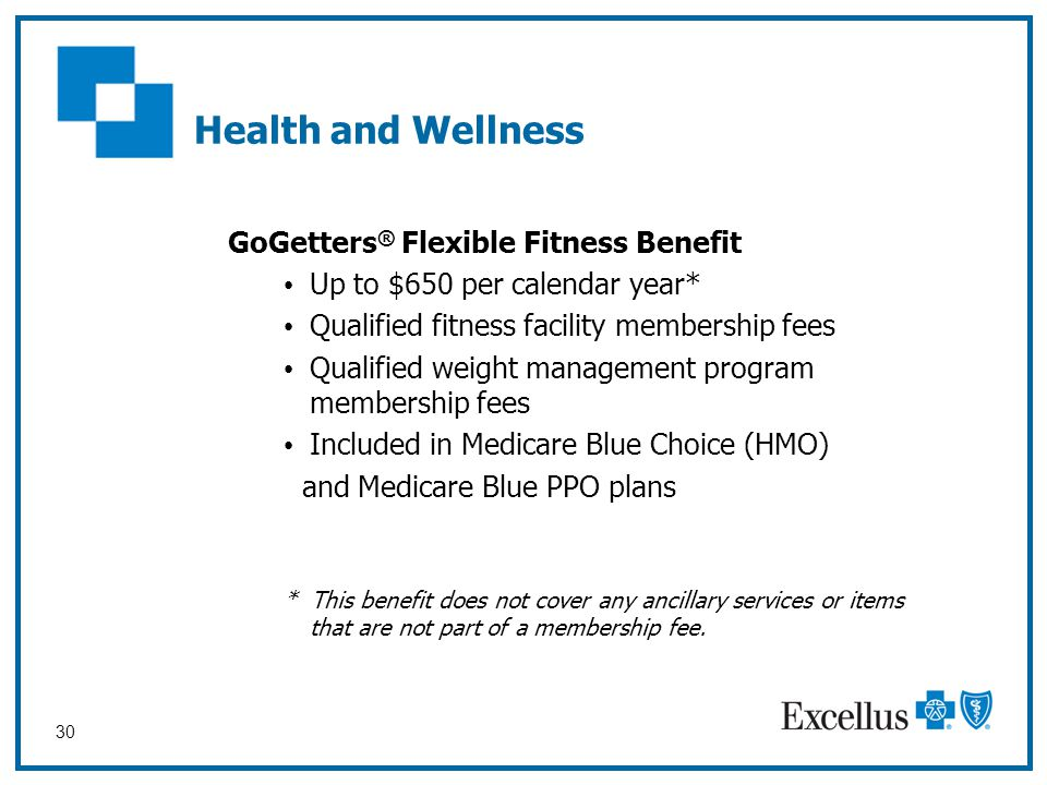 Health and Wellness GoGetters® Flexible Fitness Benefit