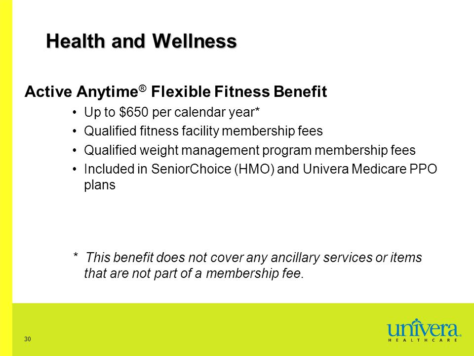 Health and Wellness Active Anytime® Flexible Fitness Benefit