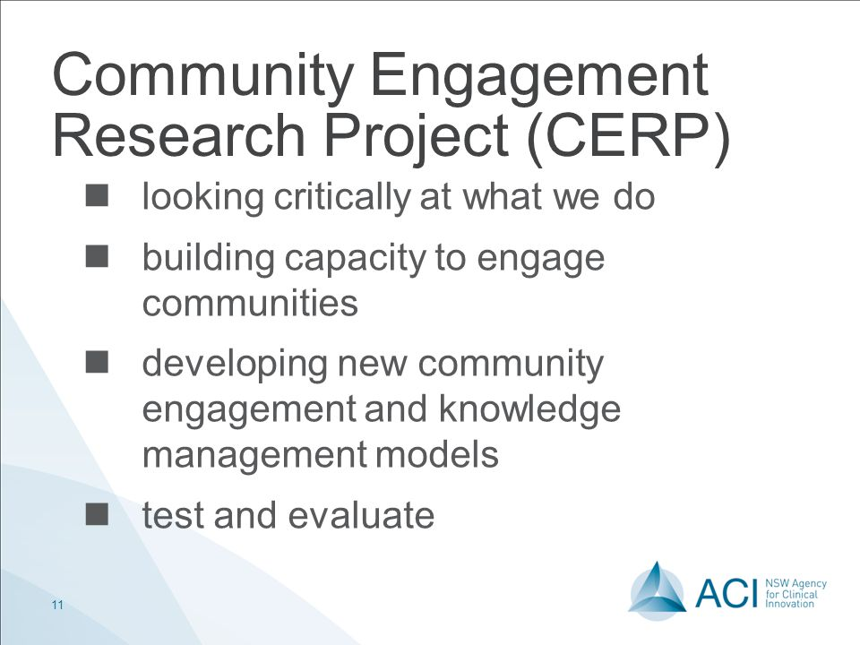 Community Engagement Research Project (CERP)