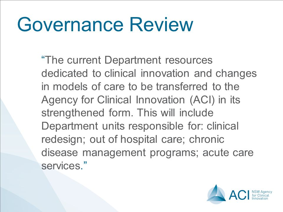 Governance Review