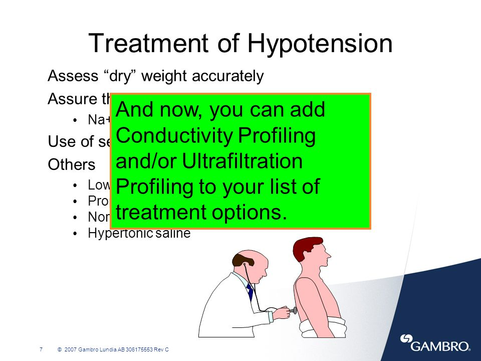 Treatment of Hypotension