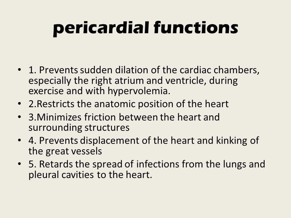 pericardial functions