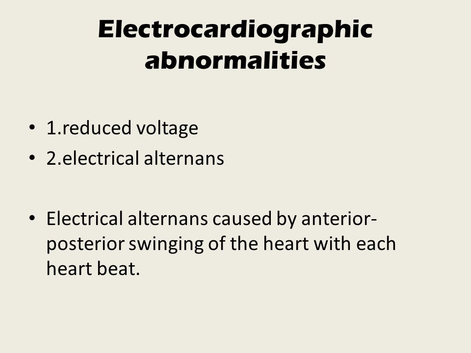 Electrocardiographic abnormalities