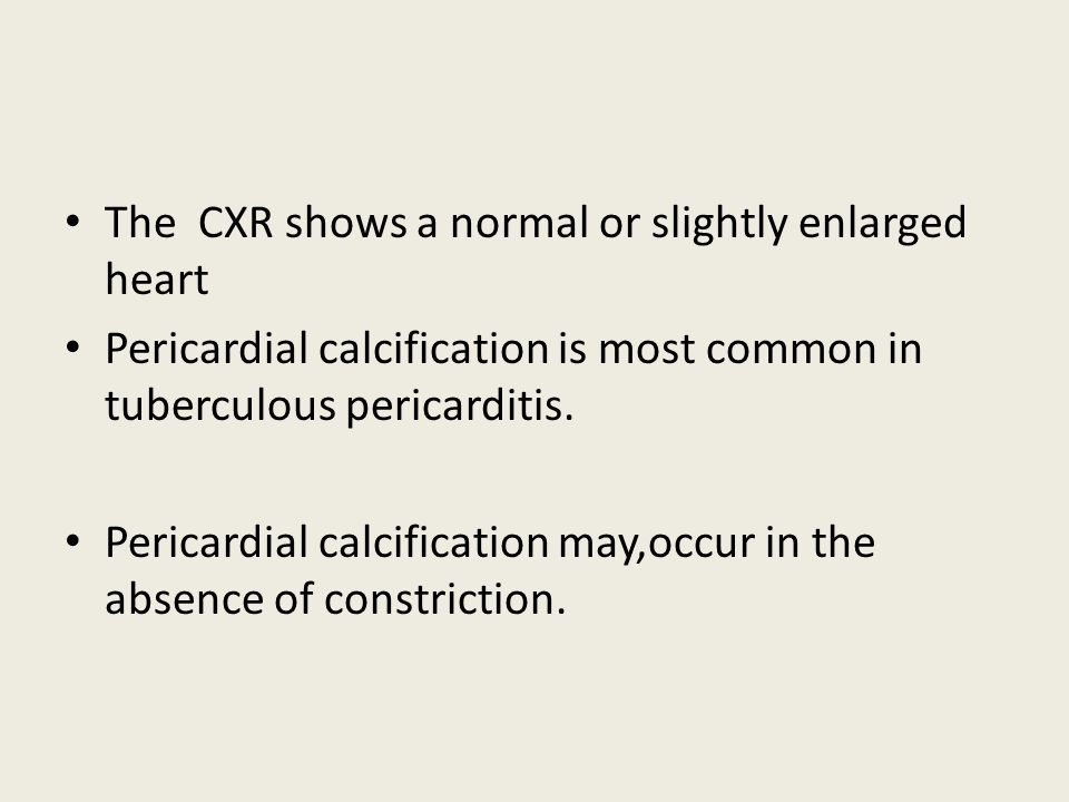 The CXR shows a normal or slightly enlarged heart