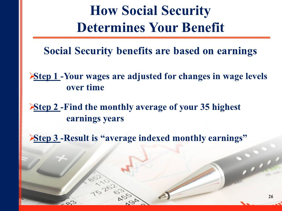 How Social Security Determines Your Benefit