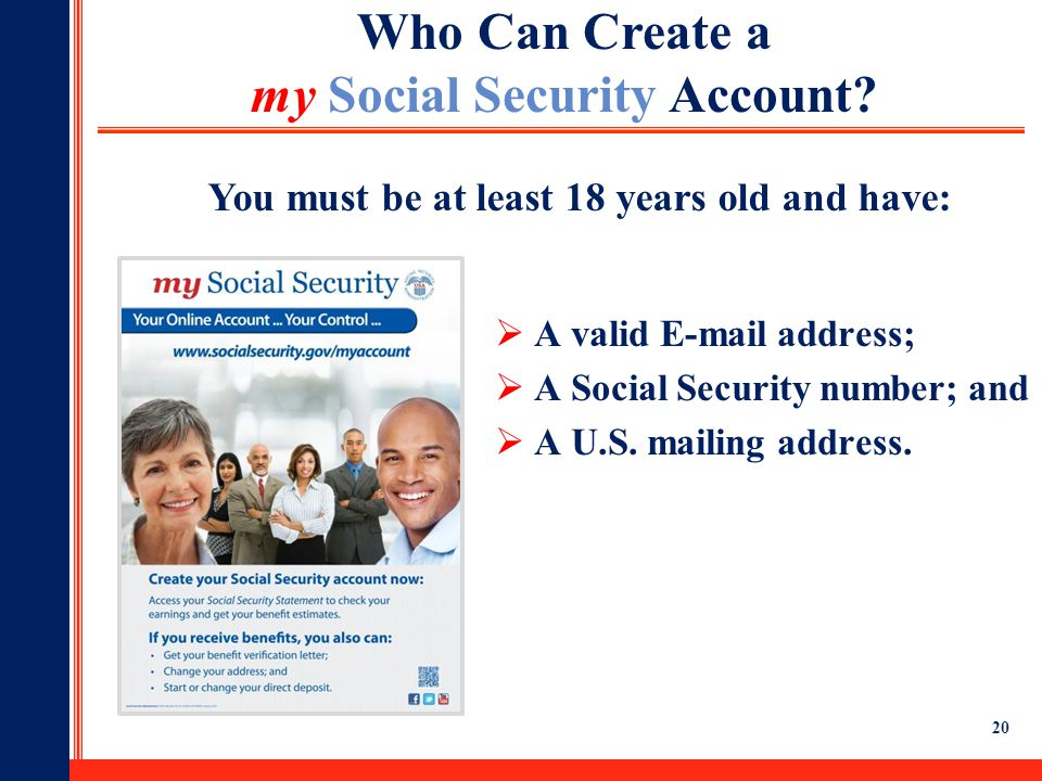 Who Can Create a my Social Security Account