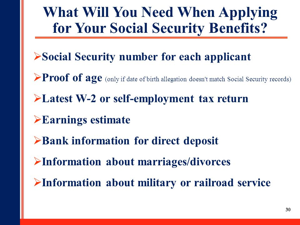 What Will You Need When Applying for Your Social Security Benefits