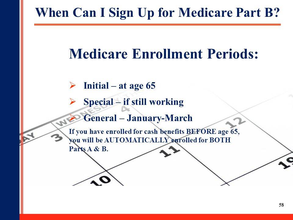 When Can I Sign Up for Medicare Part B