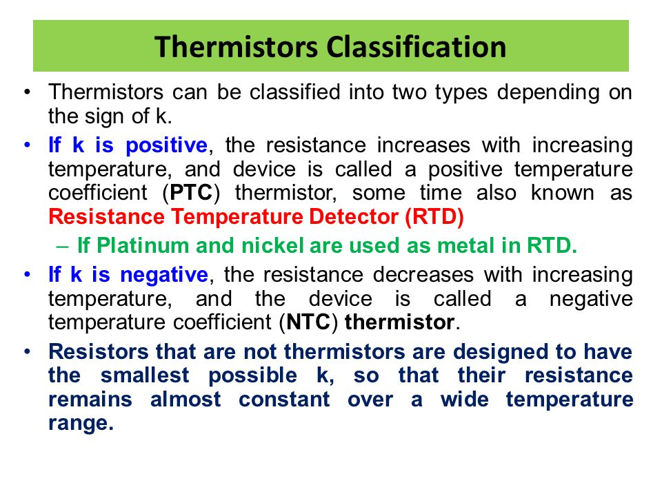 Thermistors Classification