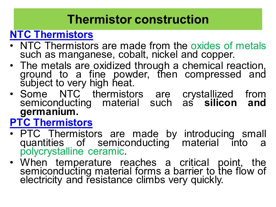 Thermistor construction