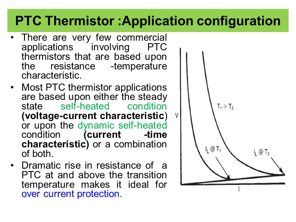 PTC Thermistor :Application configuration