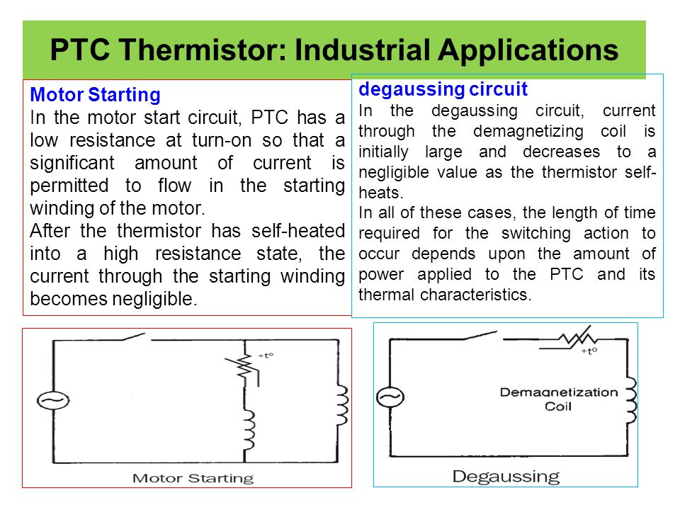 PTC Thermistor: Industrial Applications