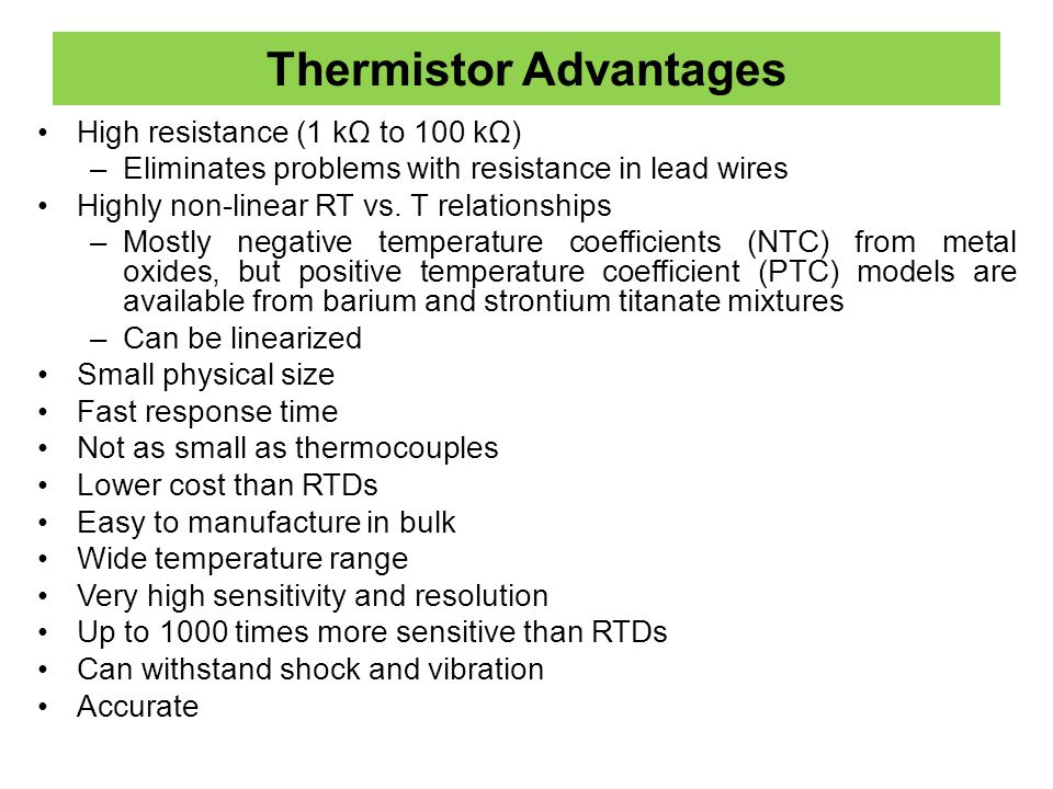 Thermistor Advantages