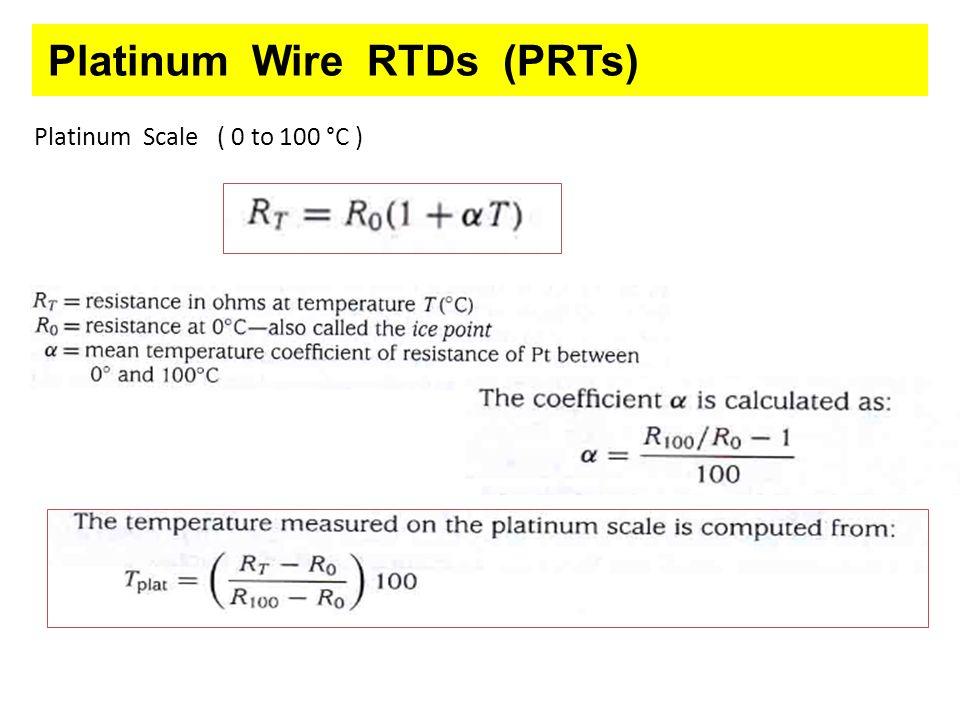 Platinum Wire RTDs (PRTs)