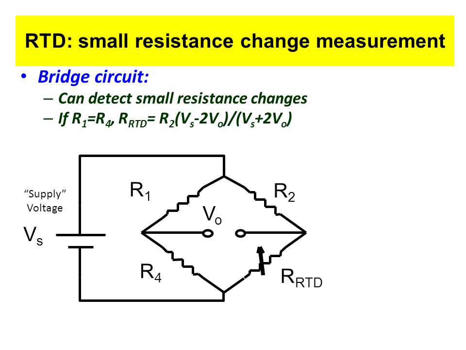 RTD: small resistance change measurement