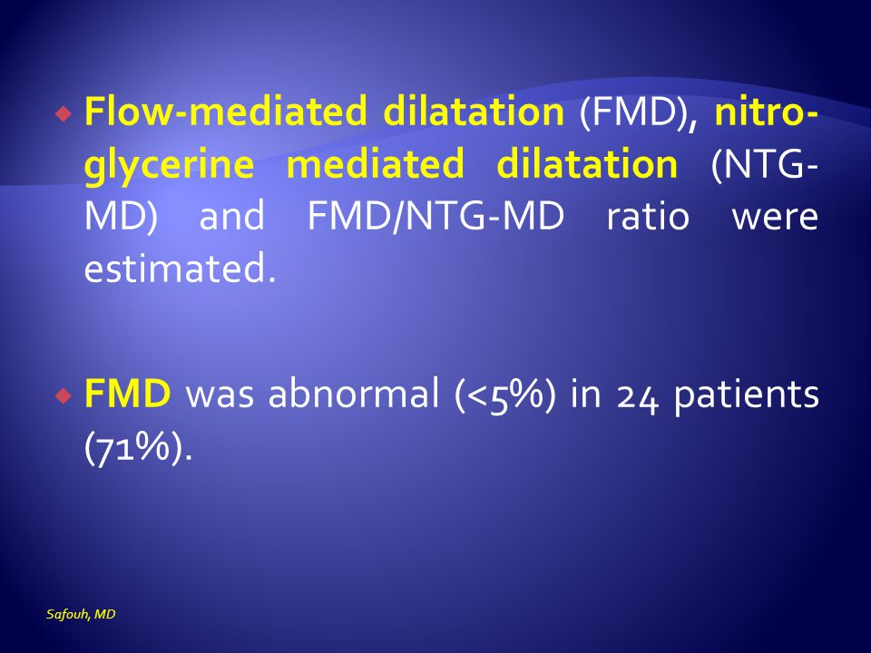FMD was abnormal (<5%) in 24 patients (71%).