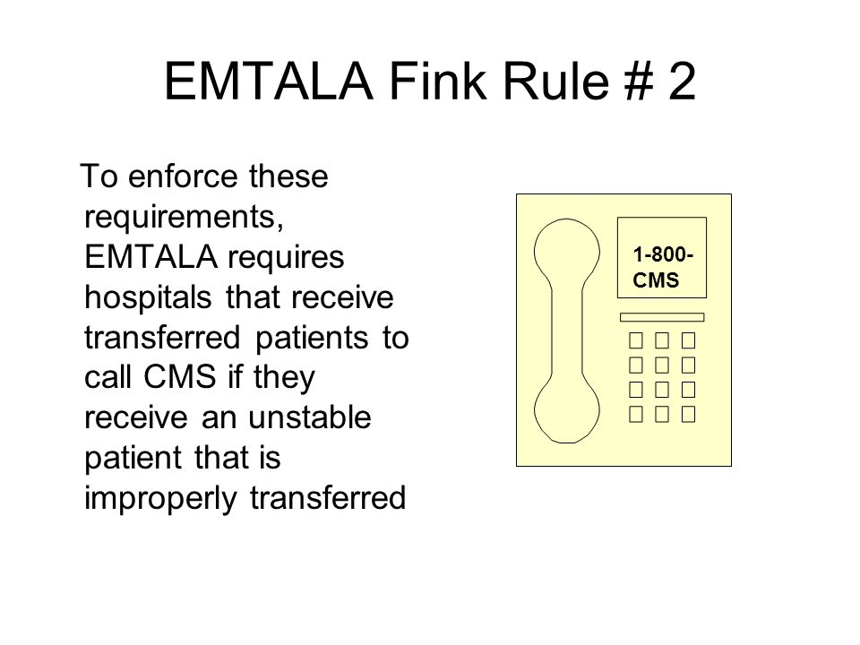 EMTALA Fink Rule # 2
