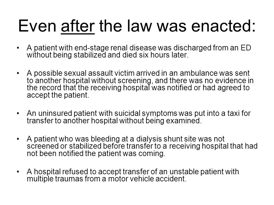 Even after the law was enacted: