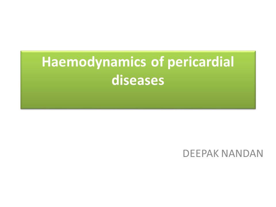 Haemodynamics of pericardial diseases