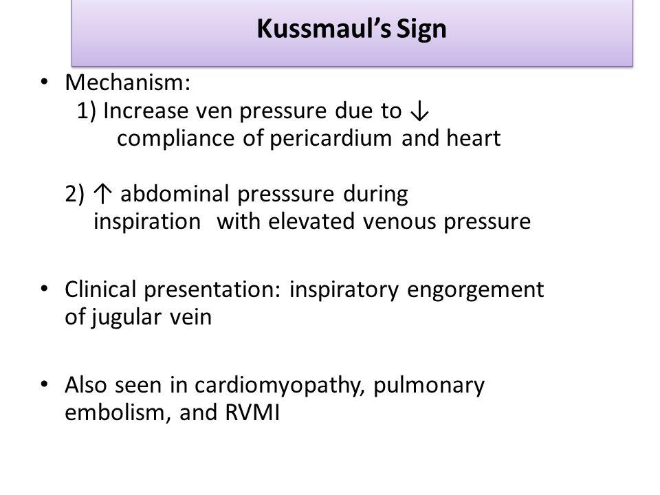 Kussmaul's Sign