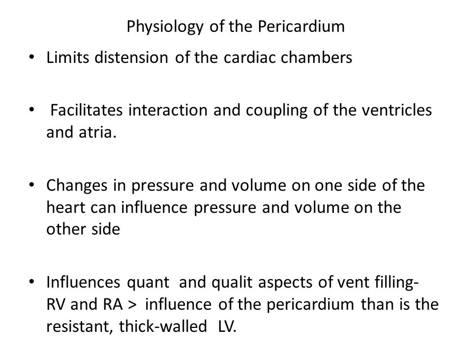 Physiology of the Pericardium