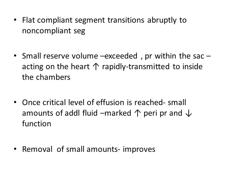 Flat compliant segment transitions abruptly to noncompliant seg