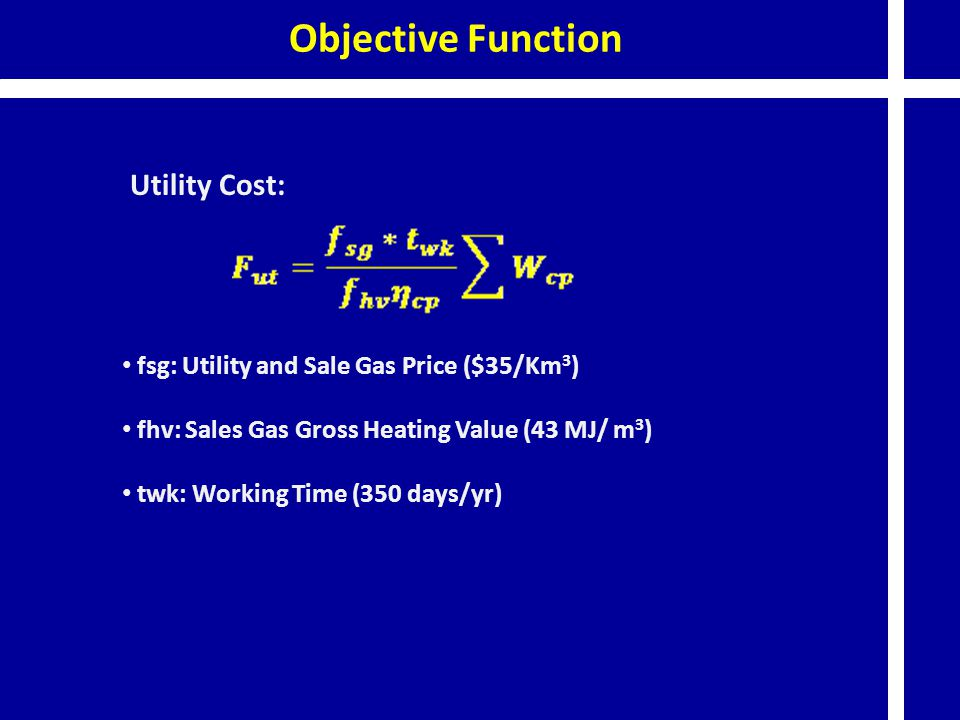 Objective Function Utility Cost: