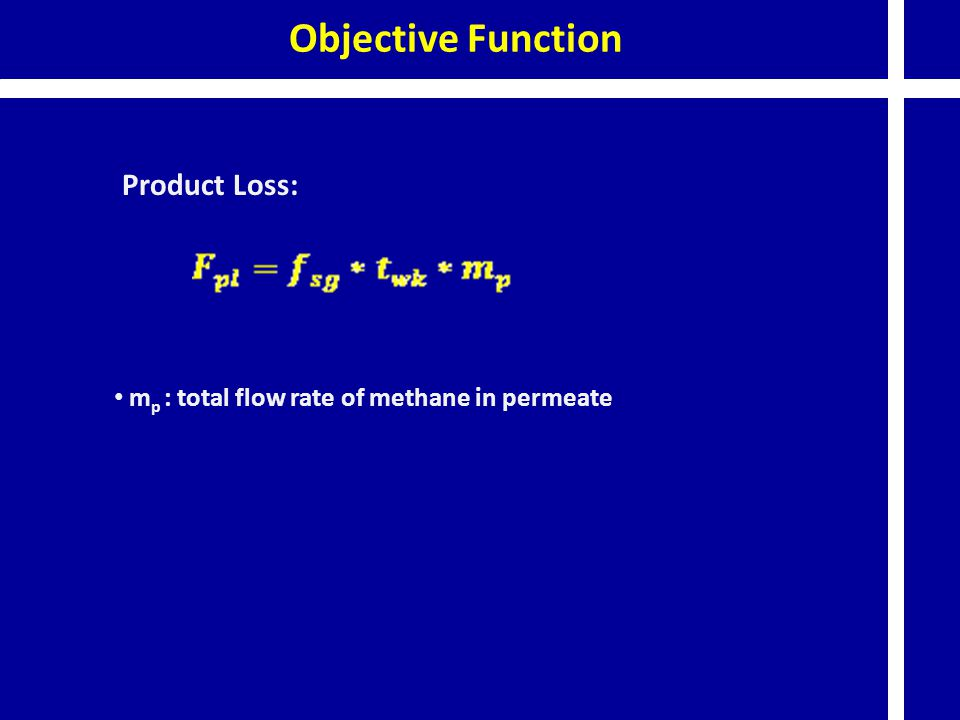 Objective Function Product Loss:
