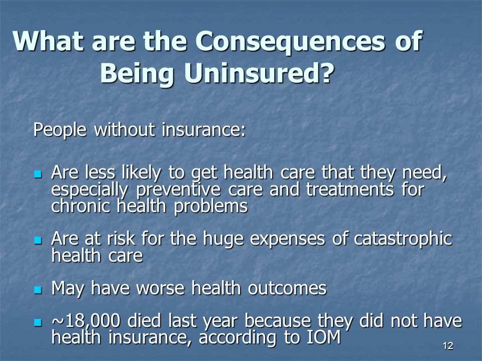 What are the Consequences of Being Uninsured