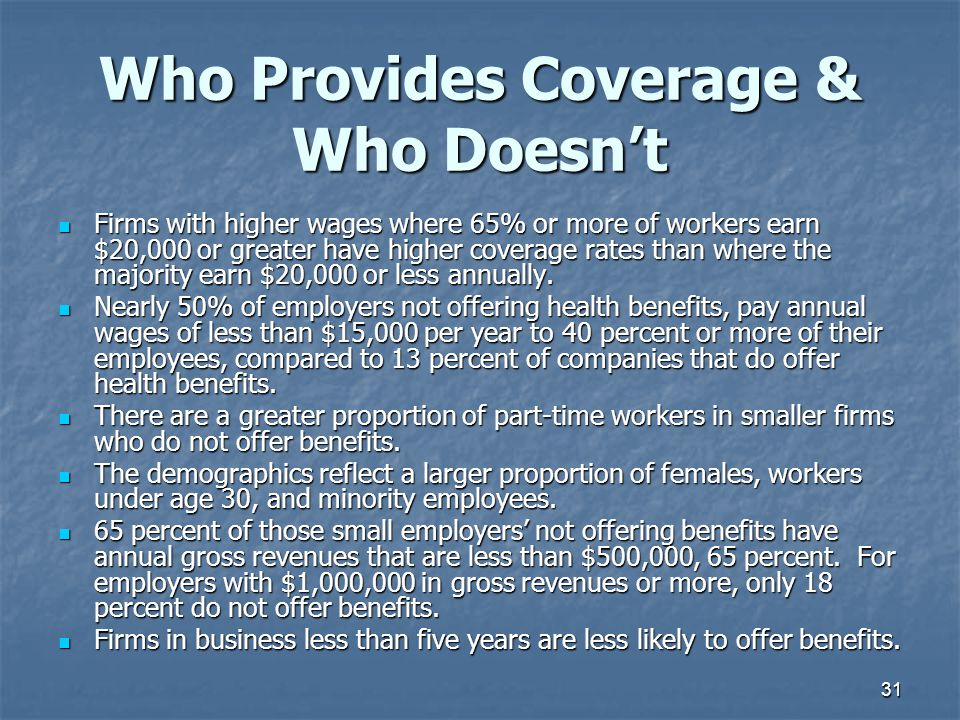 Who Provides Coverage & Who Doesn't
