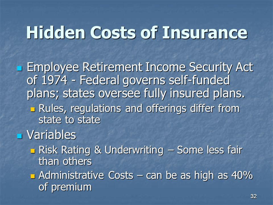 Hidden Costs of Insurance