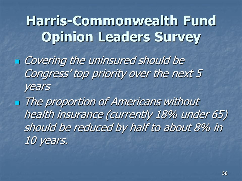 Harris-Commonwealth Fund Opinion Leaders Survey