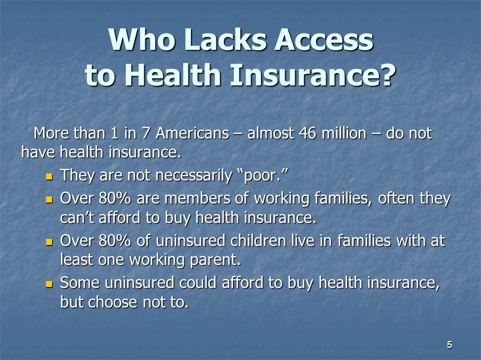Who Lacks Access to Health Insurance