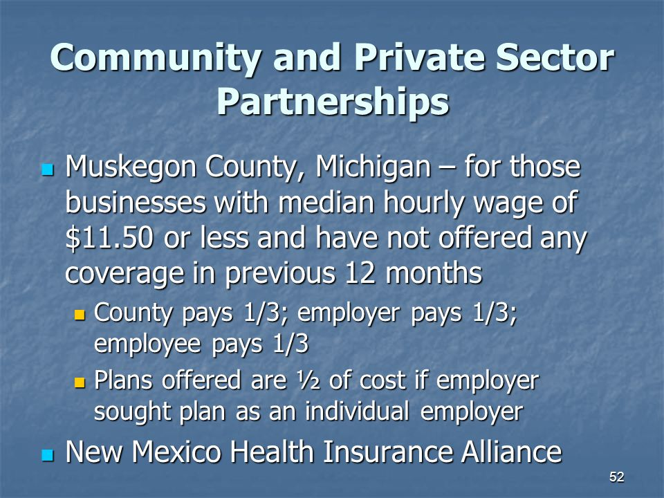 Community and Private Sector Partnerships