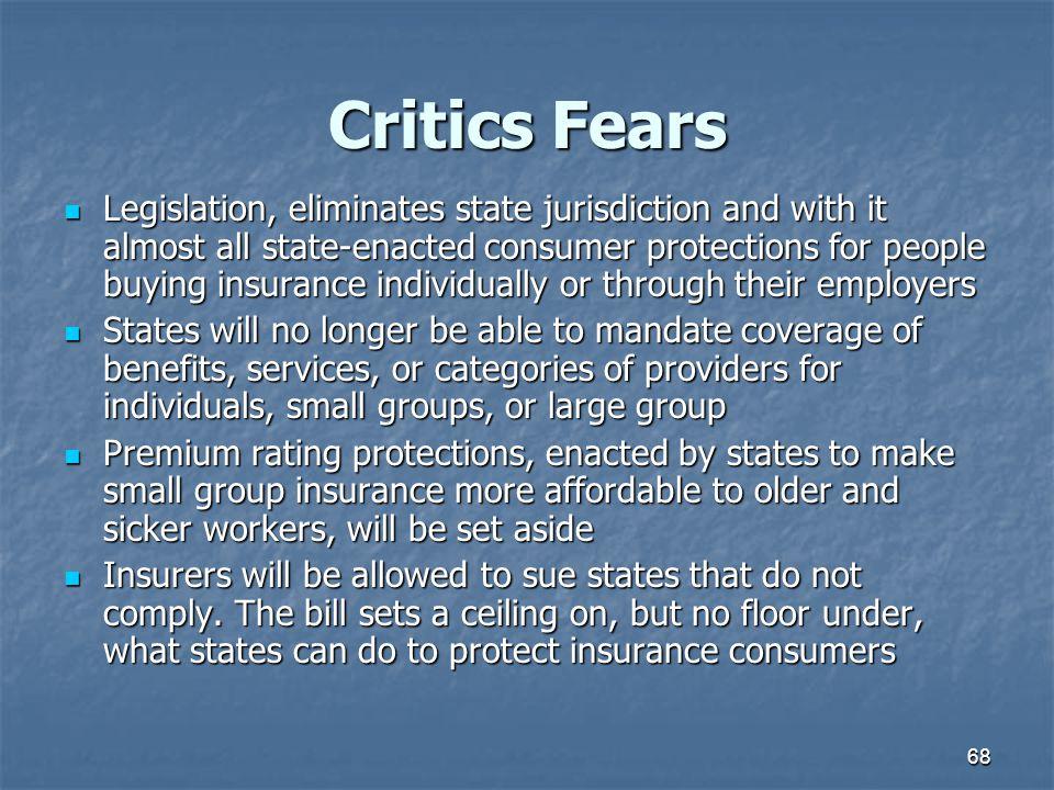 Critics Fears