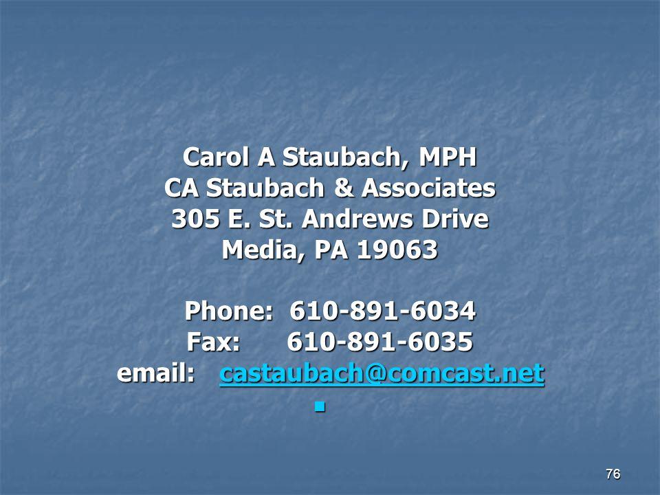 CA Staubach & Associates